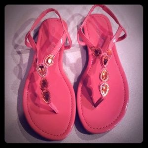 Montego Bay Club pink/coral strappy sandles